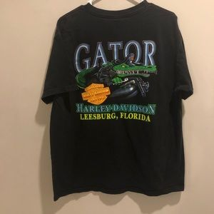 Harley Davidson shirt Florida alligator rider 01'